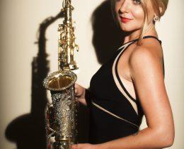 Female sax player Dubai