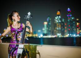 cello player, artists in dubai, dubai artists, artists dubai
