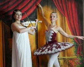 Violinist and Ballerina